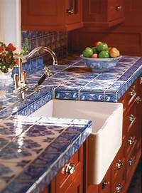 tile counter tops Hot Décor Trend: 24 Tile Kitchen Countertops - DigsDigs