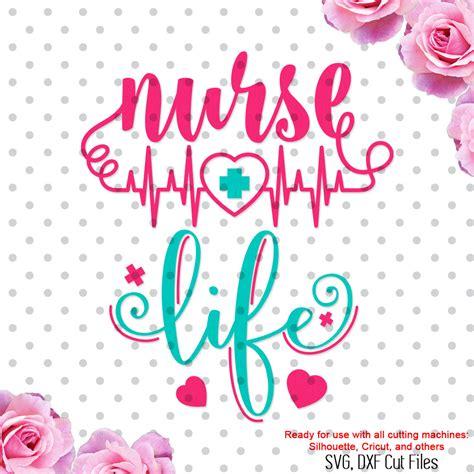 Free svg image & icon. Nurse Life svg cutting file nurse svg nurse dxf DXF