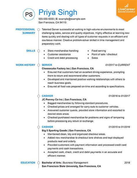 Updated Resume Templates by 9 Best Resume Formats Of 2019 Livecareer
