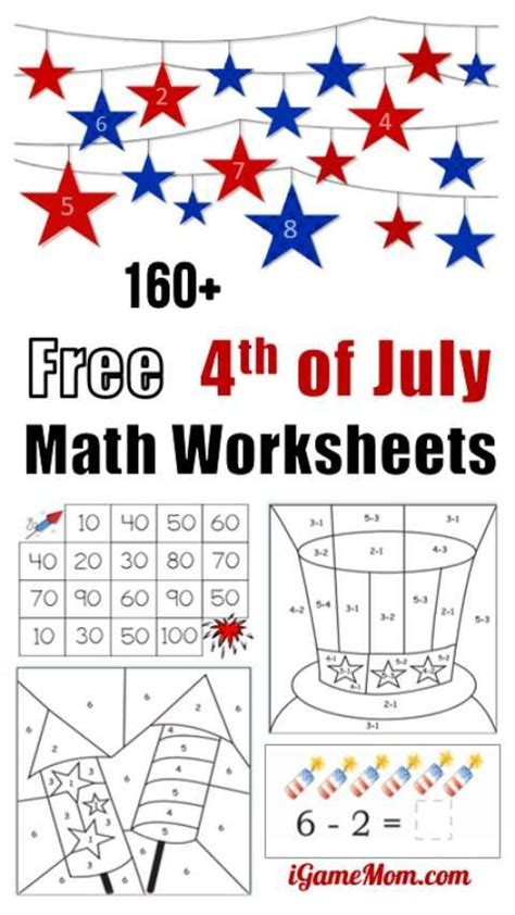 160 fourth of july printable math worksheets summer