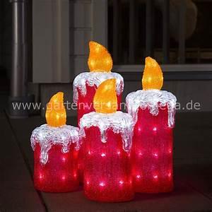 Led acryl adventskerzen adventskerzen garten for Whirlpool garten mit außenbeleuchtung balkon weihnachten