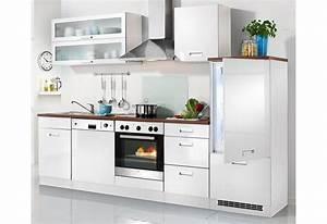 Kuchenzeile fulda inkl elektrogerate breite 280 cm for Küchenzeile inkl elektroger te