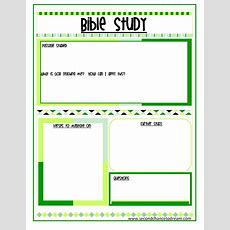 {bible Study And Prayer Request Printables}  Second Chance To Dream