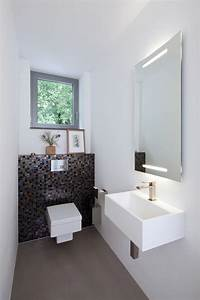 Ideen Gäste Wc : kleines g ste wc modern stil f r g stetoilette mit fenster ~ Michelbontemps.com Haus und Dekorationen