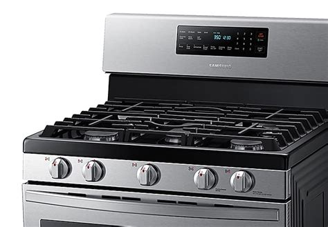 cu ft freestanding gas range  air fry  convection  stainless steel ranges