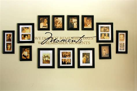 Living Room Decorating Ideas Picture Frames by 20 Photos Family Wall Picture Frames Wall Ideas