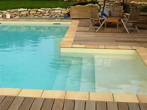 escalier et margelle pour piscine traditionnelle marinal With escalier pour piscine beton