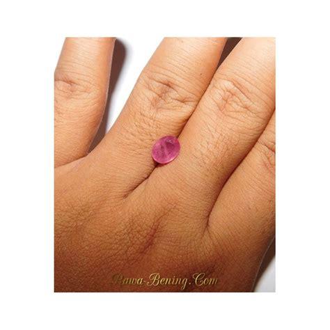 jual batu permata natural sapphire pinkish orange oval cut 2 55 carat