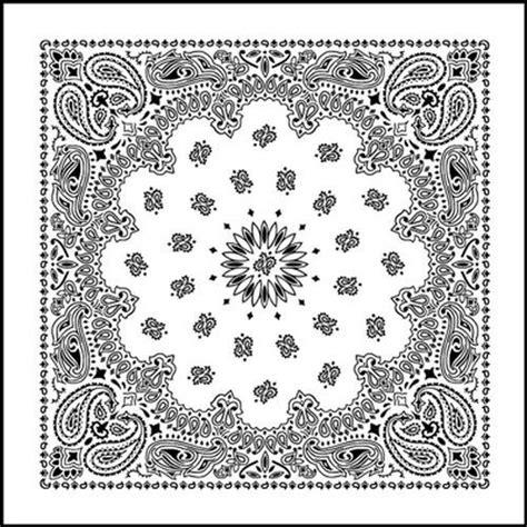 white paisley print bandana  images head wrap