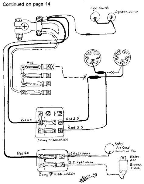 Porsche 928 Fuel Wiring Diagram by Porsche 911 928 944 Electrical System Upgrades 1965 1989