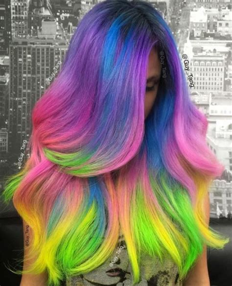 25 Best Ideas About Multi Coloured Hair On Pinterest