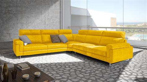canape cuir jaune le mobiliermoss du nouveau côté canapé d angle