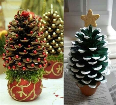 christmas trees with pine cones pine cone christmas trees christmas pinterest