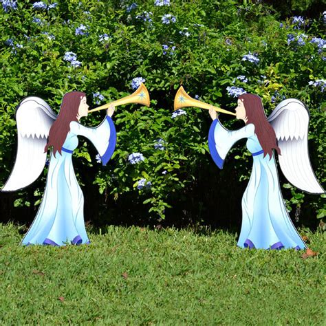 printed nativity angel  piece set outdoor nativity sets