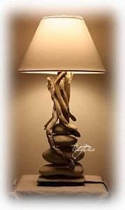Lampe Chevet Bois Flotté : lampe en galet et bois flott centerblog ~ Teatrodelosmanantiales.com Idées de Décoration