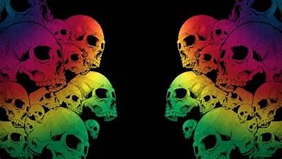 Screensavers Skulls Wallpapers Skull Cool Neon Backgrounds