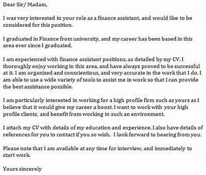 finance assistant cover letter example learnistorg With sample cover letter for finance assistant position