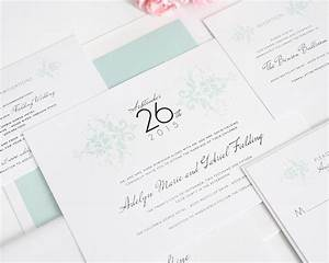elegant damask wedding invitations in mint wedding With minted wedding invitations faq
