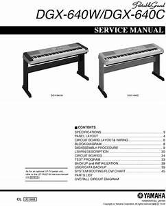 Yamaha Dgx640 Dgx-640 Complete Service Manual