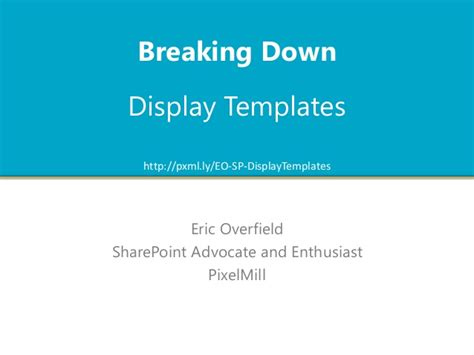 Create Display Template Sharepoint 2013 by Breaking Display Templates In Sharepoint 2013
