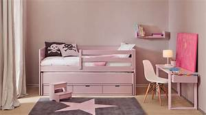 Enfant Lit Fille : chambre fille movil avec lit et bureau assorti asoral so nuit ~ Teatrodelosmanantiales.com Idées de Décoration