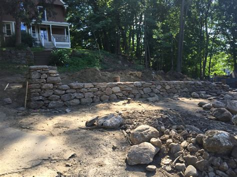 retaining wall gravel stone retaining wall concord ma concord stoneworks