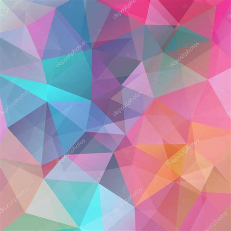 Abstract Pattern Background Pink Colors Vector Stock Abstract Background Consisting Of Triangles Vector