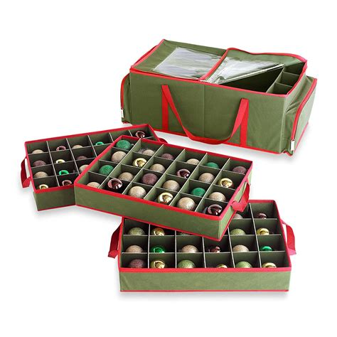 extravagant christmas ornament storage containers box with