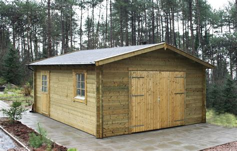 log cabin garage rydell log cabin garage 4 7 x 5 7m