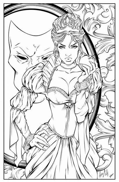 Coloring Pages Evil Adult Queen Deviantart Digital