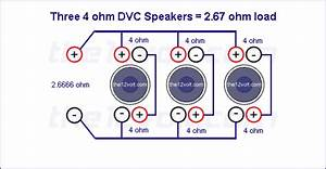 Subwoofer Wiring Diagrams  Three 4 Ohm Dual Voice Coil