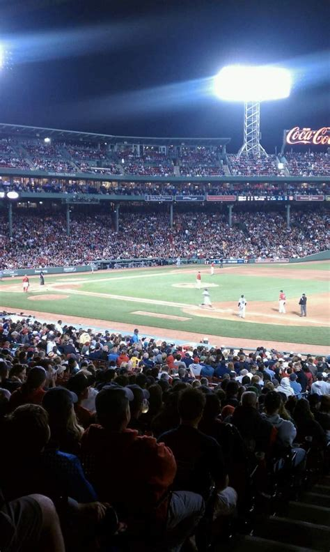 fenway park section field box  home  boston red sox