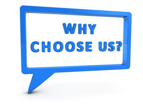 how to answer the question quot why should we choose you quot company of