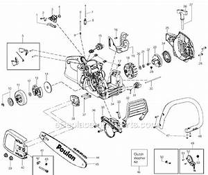 Poulan P3314 Parts List And Diagram