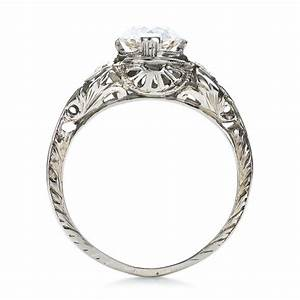 estate diamond art deco engagement ring 100905 With wedding rings art deco