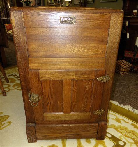item white clad oak icebox cabinet wine rack bar repro antique curiosity consignment