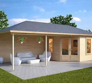 Gartenhaus Mit überdachter Terrasse : gartenhaus mit dachterrasse sophia 10m 44mm 3x3 hansagarten24 ~ One.caynefoto.club Haus und Dekorationen