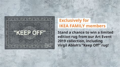 win ikea  virgil abloh rug   limited edition
