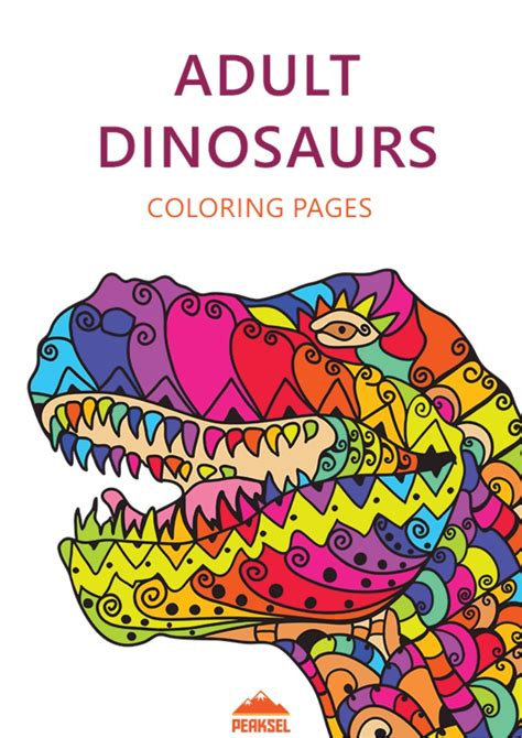 dinosaur coloring pages  adults  printable
