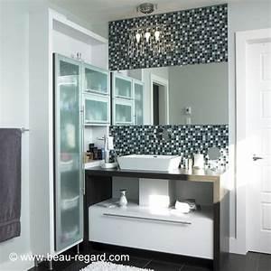 Meuble Lavabo Salle De Bain : armoire de salle de bain melamine style urbain meuble ~ Dailycaller-alerts.com Idées de Décoration