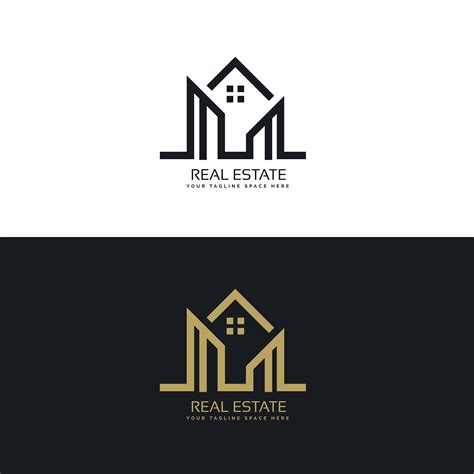 Home Design Companies by Mono Line House Logo Design For Real Estate Company
