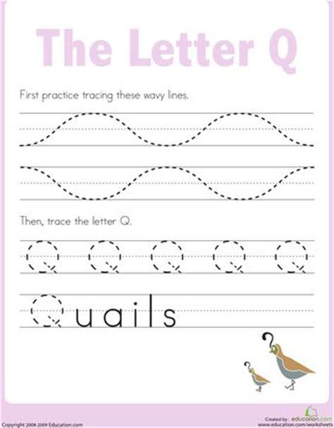 q worksheets for kindergarten letter q worksheets