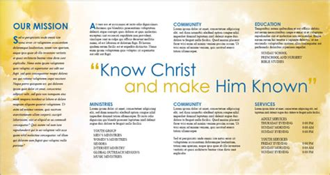 Church Brochure Templates by Free Indesign Templates Christian Church And Travel