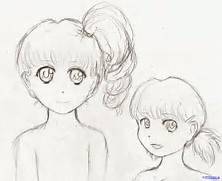 Easy Anime Characters To Draw Step By Step How to draw easy girls step      Easy Anime Drawings For Beginners Step By Step