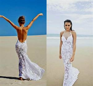 lace backless beach wedding dress naf dresses With sexy beach wedding dress