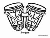 Bongos Percussion Coloring Drums Template Music Pages Sketch sketch template