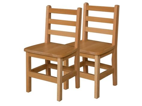 ladder back wooden school chair set of 2 14 quot h seat 812 | WDE 81402T