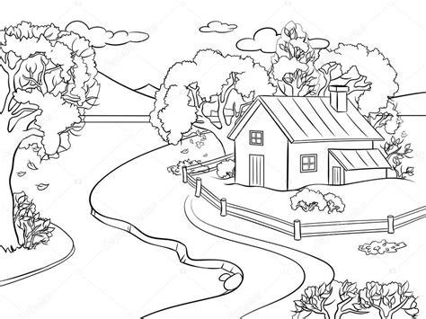 Paisajes De Otoño Para Dibujar