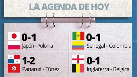 Consulta dónde ver todos los partidos de fútbol en la tele en directo de hoy y de la semana. Mundial 2018: partidos de hoy. ¿Quién juega jueves 28 Junio? Horario y dónde ver