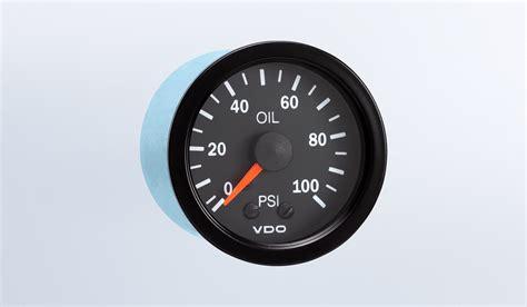 Vision Black Psi Mechanical Oil Pressure Gauge